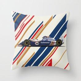 1994 FW16 Senna Throw Pillow