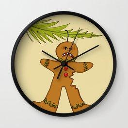 Open Season on Gingerbreadmen! Wall Clock