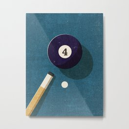 BILLIARDS / Ball 4 Metal Print