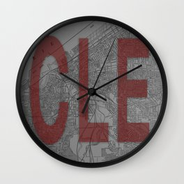 HOME IS CLE Wall Clock