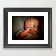 Old Cracked Doll Framed Art Print