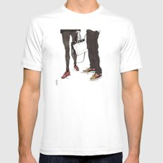 Mismatched, But Not Incompatible by Kat Mills Mens Fitted Tee White MEDIUM
