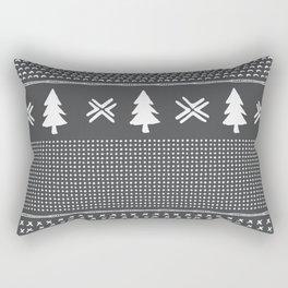 Evergreen in Gray Rectangular Pillow