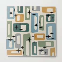 Retro Mid Century Modern Abstract Pattern 964 Metal Print