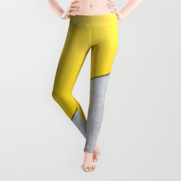 Yellow & Gray Abstract Background Leggings