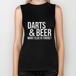 Darts Tshirt - Darts and Beer What Else Is There? Biker Tank