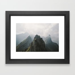 Flying Mountain Explorer - Landscape Photography Framed Art Print
