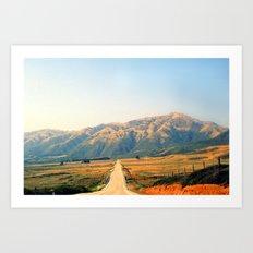 Route 1 towards L.A Art Print