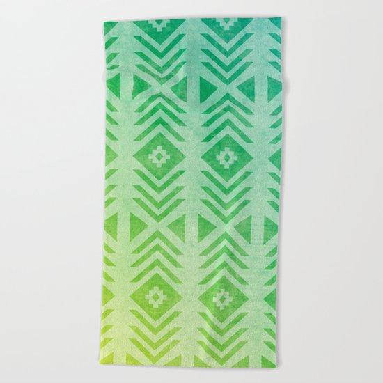 Aztec Pattern 01 Beach Towel