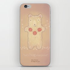 Christmas creatures- The Loving Bear iPhone & iPod Skin