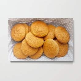 Delicious oatmeal cookies for breakfast Metal Print