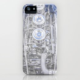 Hot Rod Blue, Automotive Art with Lots of Chrome by Murray Bolesta iPhone Case