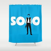 han solo Shower Curtains featuring Han Solo by Vector Vectoria