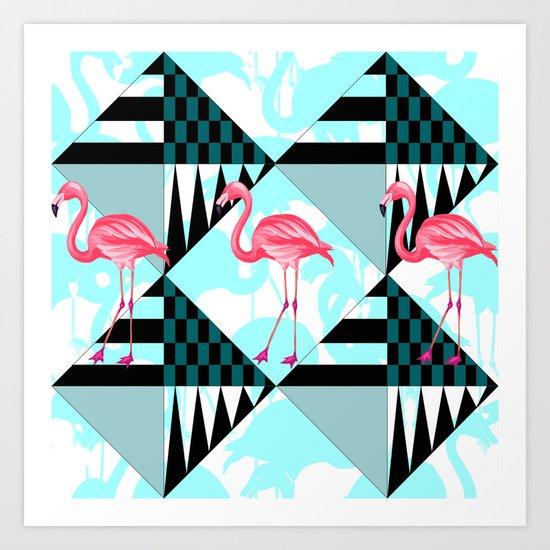 flamingo all days Art Print