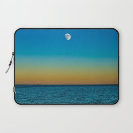 Moon Rising Over Chicago's North Shore Laptop Sleeve