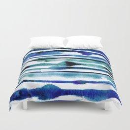 Laguna Watercolor Stripe Duvet Cover