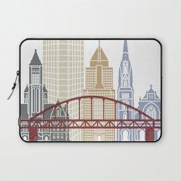 Pittsburgh V2 skyline poster Laptop Sleeve