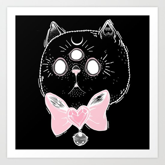 Witchy Kitten Art Print