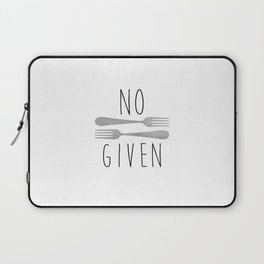 No Forks Given Laptop Sleeve