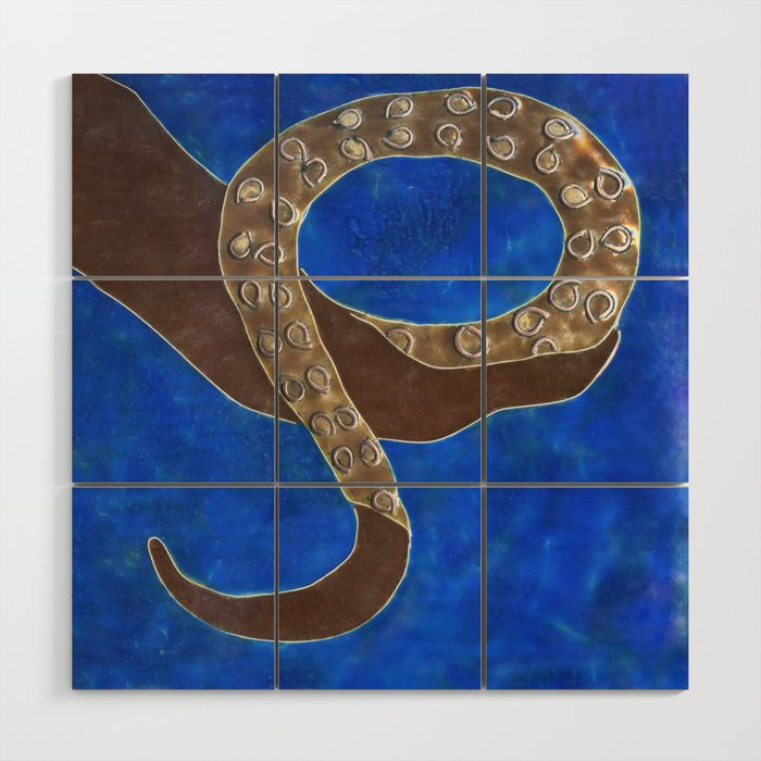 Creature of Water (the tentacle) Wood Wall Art