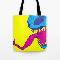 venom Tote Bags featuring Venom. by Hussein Ibrahim