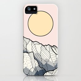 The sun and mountain iPhone Case
