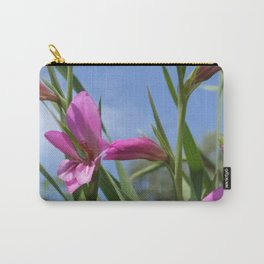 Pink Flowers - Field Gladiolus Carry-All Pouch