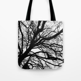Tree forest wall art, trending minimalist Art, Minimalist, Black and White, Trees simple Tote Bag