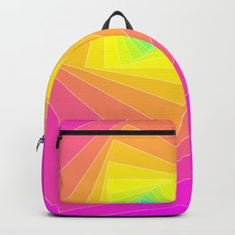 Magenta, Yellow, and Cyan Squares Backpack