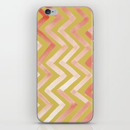 #02. Tierney (Chevrons, Gold variation for home accessories) iPhone Skin