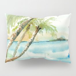 Tropical beach Pillow Sham