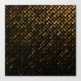 Crystal Bling Strass Gold G321 Canvas Print