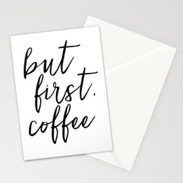 BUT FIRST COFFEE, Coffee Sign,Quote Posters,Quote Prints,Coffee Kitchen Decor,Kitchen Sign,Inspirati Stationery Cards