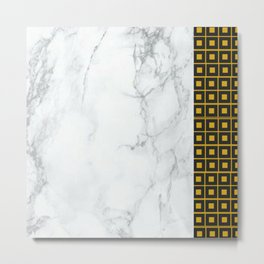Granite with Asymmetric Golden Squares Metal Print