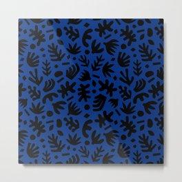 Matisse Paper Cuts // Navy & Black Metal Print