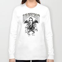 lovecraft Long Sleeve T-shirts featuring H.P. LOVECRAFT by Bili Kribbs