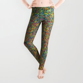 Here Comes the Sun - Van Gogh impressionist abstract Leggings