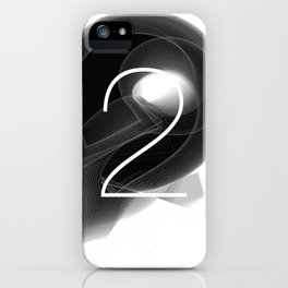 Number 2. Dark Math.  iPhone Case