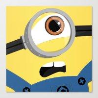 minion Canvas Prints featuring Minion by Janice Wong