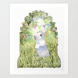 Bunny's Birthday Art Print