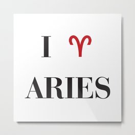 I heart Aries Metal Print