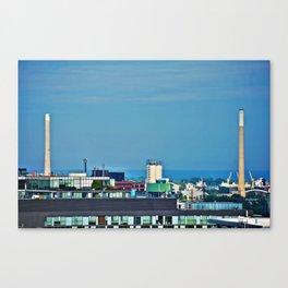 Smokestacks in Toronto Canvas Print