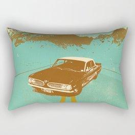 LONE BLUE ROAD Rectangular Pillow