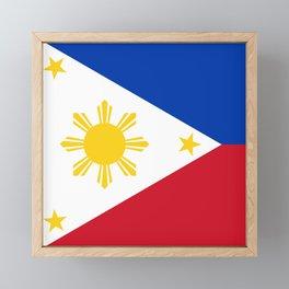 Philippines national flag Framed Mini Art Print