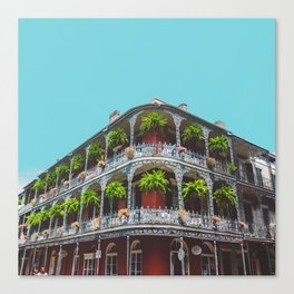 Hanging Baskets of Royal Street, New Orleans Canvas Print