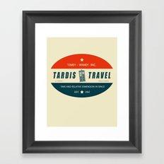 Tardis Travel - Fantasy Travel Logo Framed Art Print