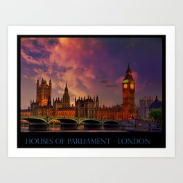 Houses of Parliament - London Art Print