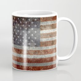 Grungy US flag Coffee Mug