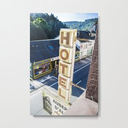 Vintage Hotel Sign  Metal Print