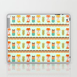 Foxes, grains and leaves Laptop & iPad Skin